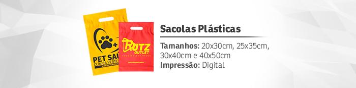 sacolas plasticas